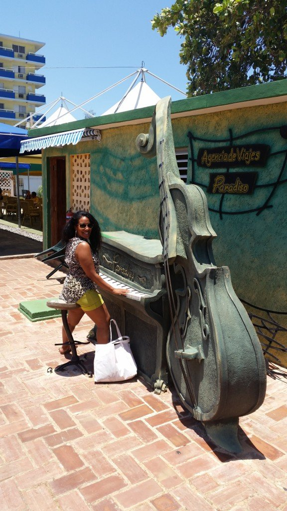 Varadero Beach, full of charm and musical symbolism everwhere.